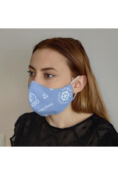 3D Product Sale Bayan Bez Maske, 3 Adet %100 Pamuklu, Yıkanabilir,