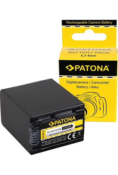 Patona Sony HDR-CX110 HDR-CX170 NP-FV30 NP-FV50 İçin NP-FV100 Batarya