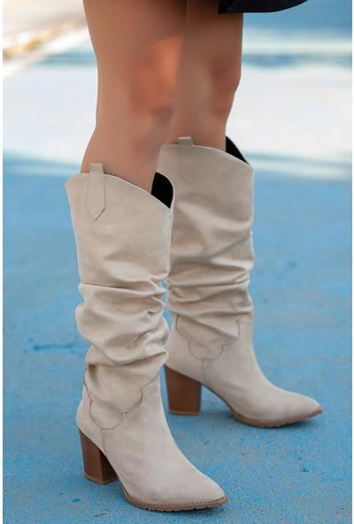 Muggo ILK05 Kadın Kovboy Çizme