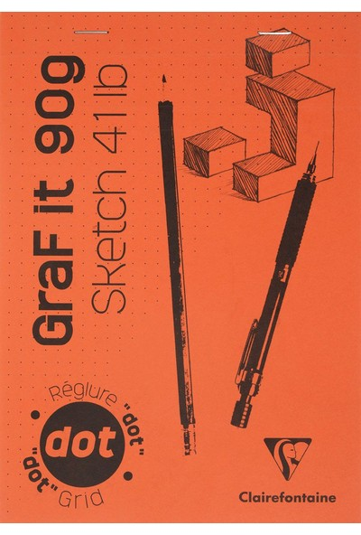 Clairefontaine Graf It 14,8X21 cm Noktalı 160 Sayfa Bloknot Defter GBD96651