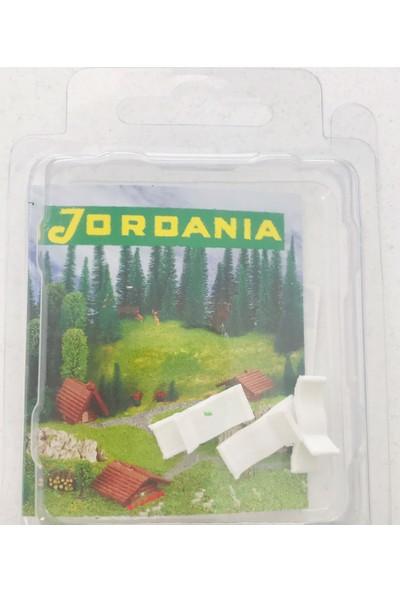 Jordania 1/100 3'lü Plastik Şezlong MBP1100