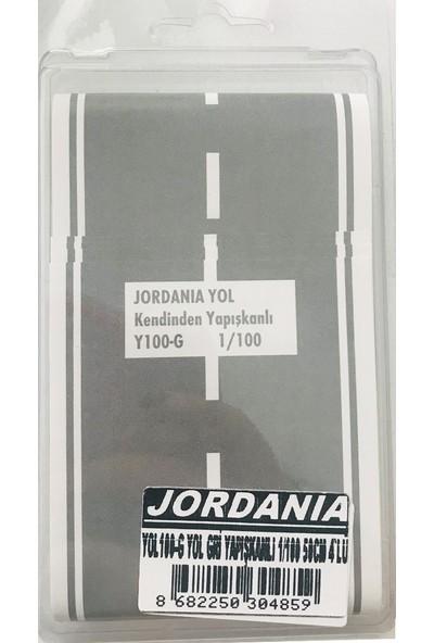 Jordania 1/100 50 cm 4'lü Gri Yapışkanlı Yol YOL100-G