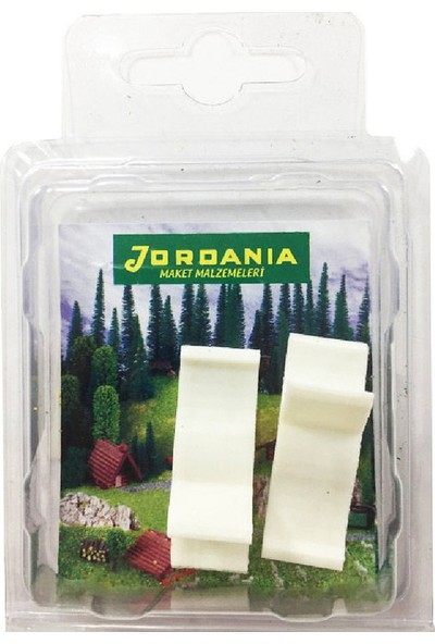 Jordania 1/50 2'li Plastik Şezlong MBP1050