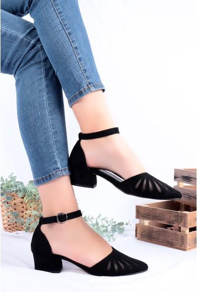 Hayalimdeki Ayakkabı Chica Siyah Süet Topuklu Ayakkabı