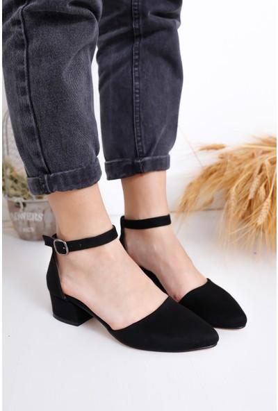 Hayalimdeki Ayakkabı Dary Topuklu Siyah Süet Ayakkabı