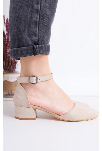 Hayalimdeki Ayakkabı Dary Topuklu Ten Süet Ayakkabı