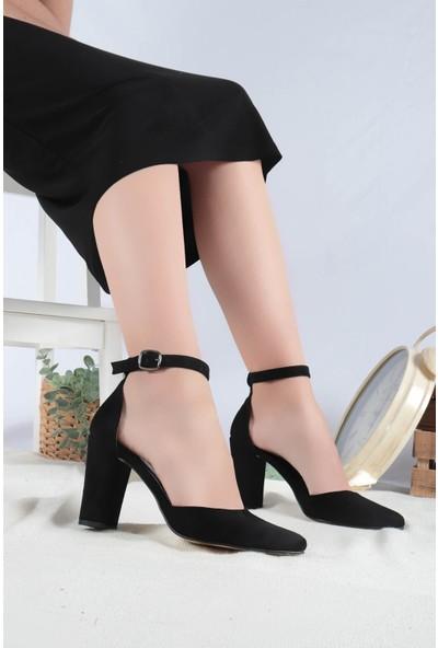 Hayalimdeki Ayakkabı Joyce Siyah Süet Topuklu Ayakkabı