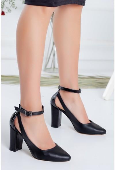 Hayalimdeki Ayakkabı Lillian Topuklu Siyah Cilt Ayakkabı