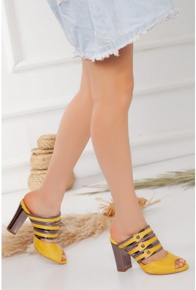 Hayalimdeki Ayakkabı Melanie Topuklu Hardal Süet Ayakkabı