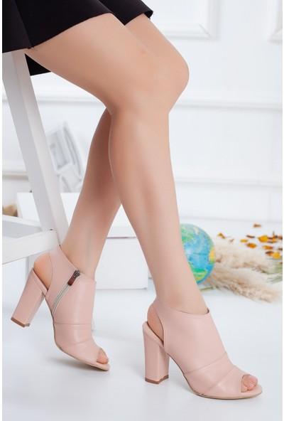 Hayalimdeki Ayakkabı Tisha Topuklu Pudra Cilt Ayakkabı