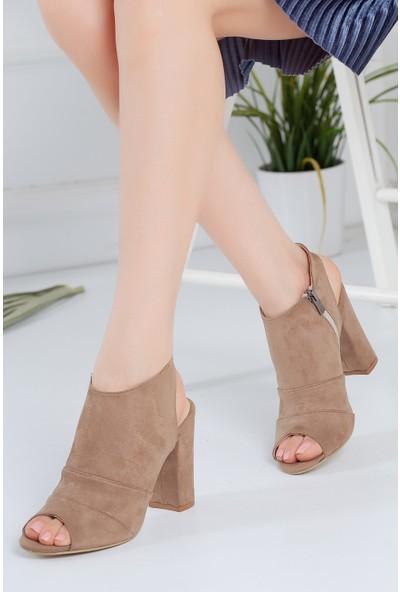 Hayalimdeki Ayakkabı Tisha Topuklu Vizon Süet Ayakkabı