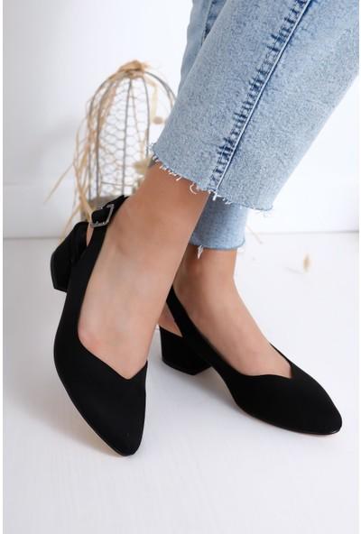 Hayalimdeki Ayakkabı Valentina Topuklu Siyah Süet Ayakkabı