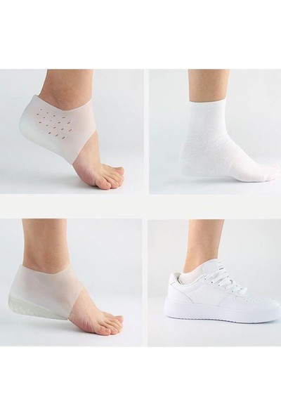 Yenimiyeni Gizli Topuk Boyu Yükseltici Silikon Çorap 4 cm