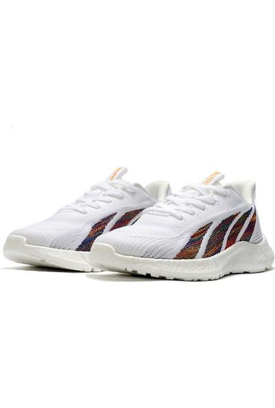 Yukka Treeperı 911 Dış Işık V2 Koşu Ayakkabısı - Renkli Beyaz