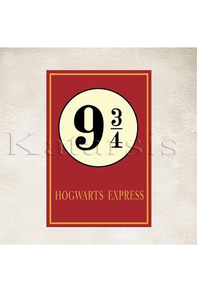 Katarsis Harry Potter Hogwarts Express Baskılı Ahşap Poster