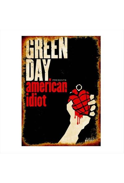 Katarsis American Idiot Baskılı Ahşap Poster