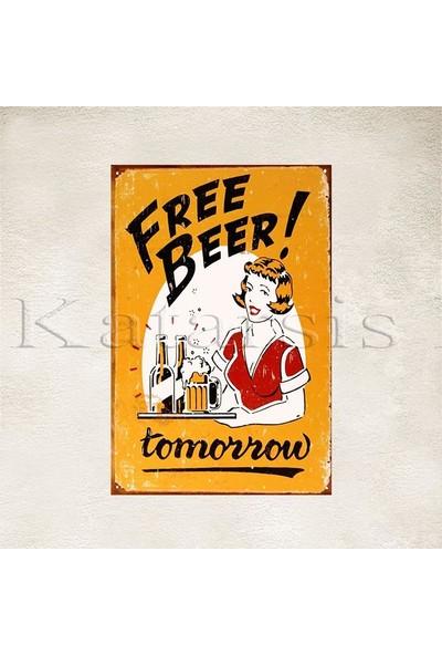 Katarsis Free Beer Baskılı Ahşap Poster 2