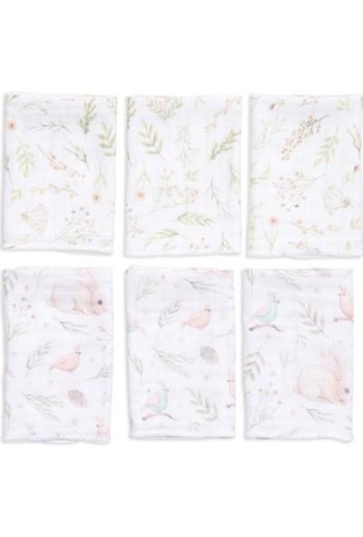 Funna Baby Müslin Ağız Bezi 6'lı 30 x 30 cm Garden