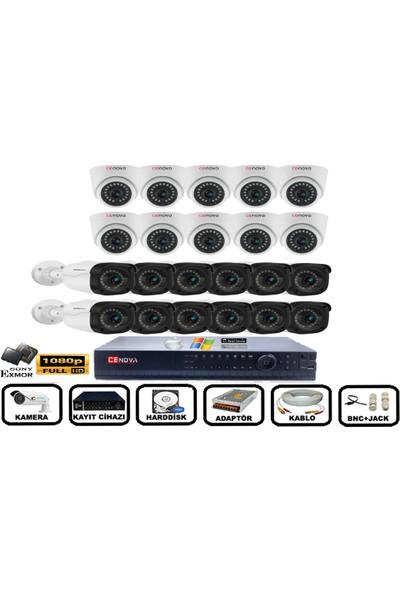 Cenova 22'li 2mp Ahd Full Set+Harddisk Güvenlik Kamerası