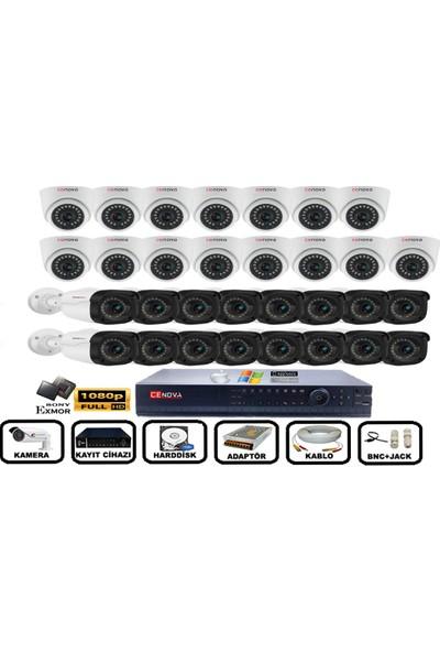 Cenova 31'li 2mp Ahd Full Set+Harddisk Güvenlik Kamerası