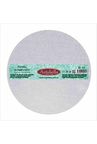 Artebella KTYTC010 Tuval Kompozit Yuvarlak 10 cm