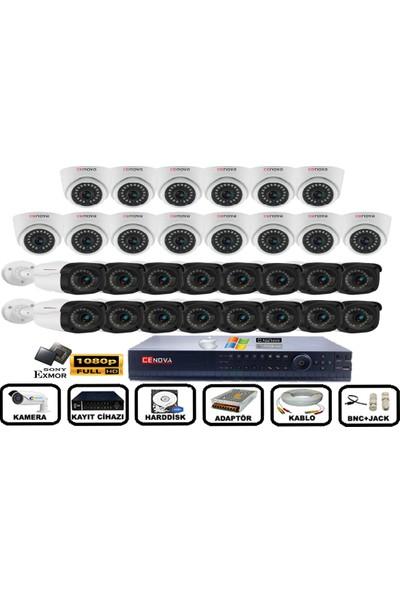 Cenova 30'lu 2mp Ahd Full Set+Harddisk Güvenlik Kamerası