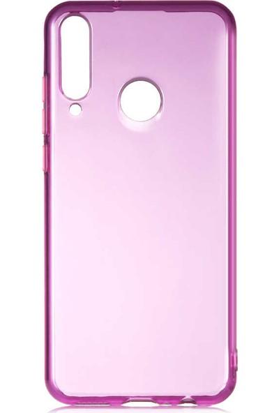 Fibaks Huawei Y6P Kılıf Lansman Bistro Renkli Tuşlu Transparan Yumuşak Silikon Mor