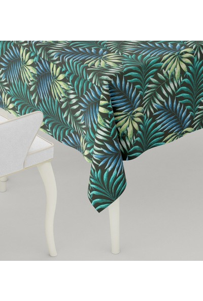 Duck Masa Örtüsü Su Geçirmez Leke Tutmaz Yaprak Yeşil 160X200 cm
