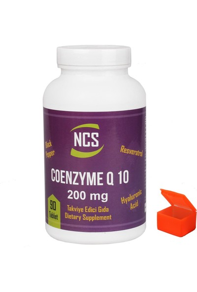 Ncs Coenzyme Q-10 200 Mg 90 Tablet Resveratrol Hyaluronic Acid + Hap Kutusu