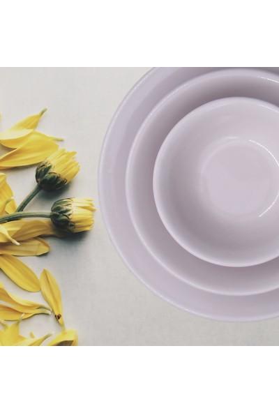 Arna 18 Parça Seramik 6 Kişilik Yemek Takımı- Lila
