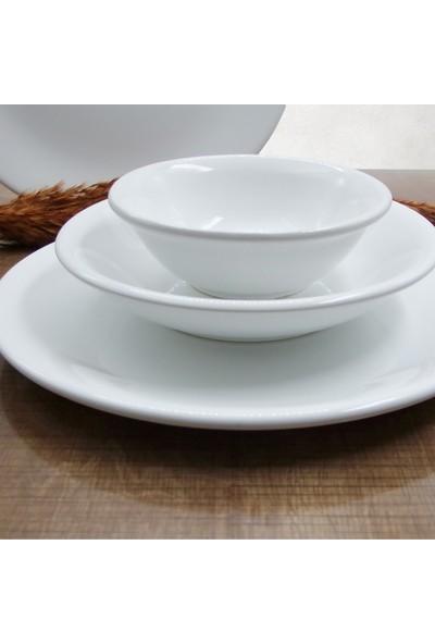 Arna 24 Parça 6 Kişilik Seramik Yemek Takımı-Beyaz