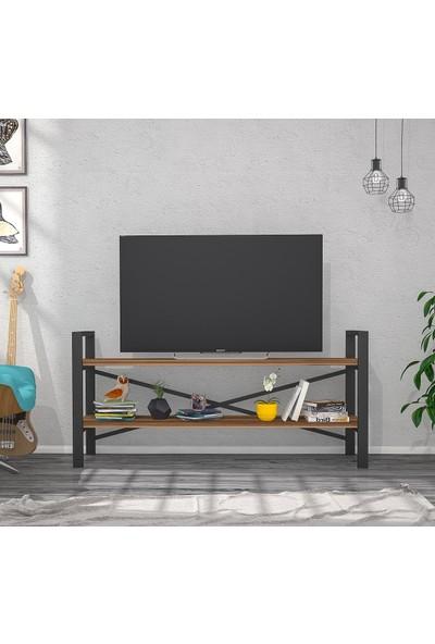 Hepsi Home Metal Ceviz TV Sehpası Tv Ünitesi
