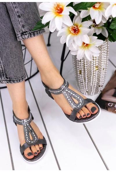 Erbilden Aspey Platin Cilt Sandalet