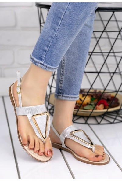 Erbilden Samy Gümüş Cilt Parmak Arası Sandalet