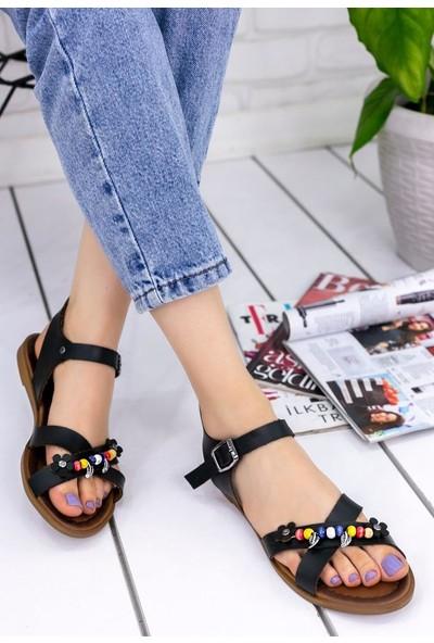 Erbilden Tammi Siyah Cilt Sandalet