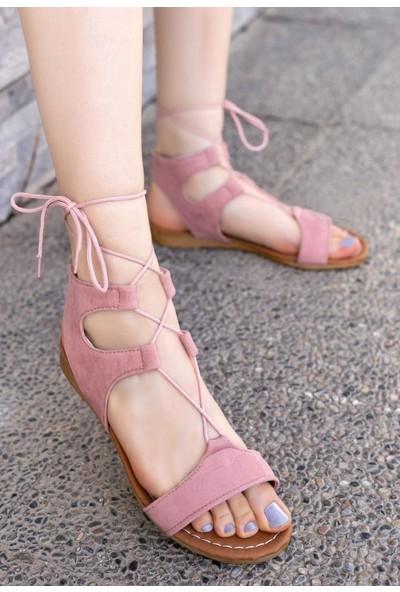Erbilden Tina Pudra Süet Sandalet