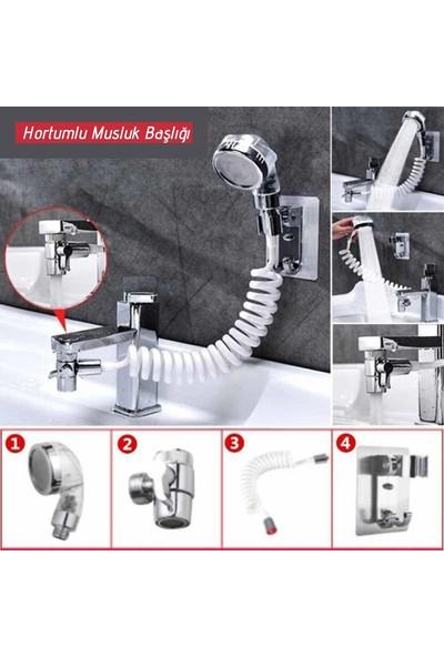 Buffer 2 In 1 Spiral Hortumlu Ayarlanabilir Hareketli Banyo Mutfak Lavabo Musluk Duş Başlığı