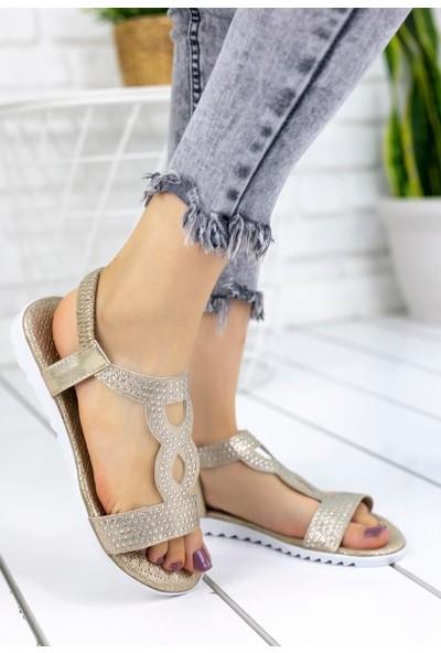 Erbilden Jocelyn Altın Cilt Sandalet