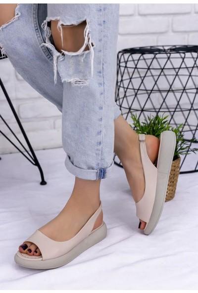 Erbilden Babt Krem Cilt Sandalet