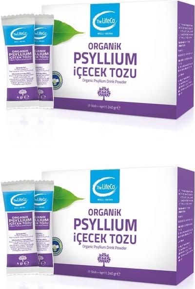 The Lifeco Organik Psyllium İçecek Tozu 240 gr (4 gr x 60'lı Stick) 2'li Paket