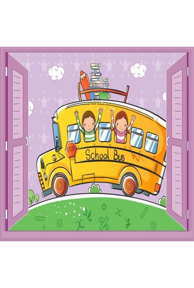Jasmin Pencereden Otobüs Çocuk Odası Duvar Kağıdı Poster