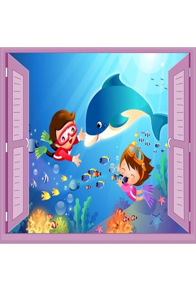 Jasmin Pencereden Su Altı Çocuk Odası Duvar Kağıdı Poster