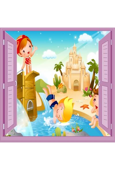 Jasmin Pencereden Tatil Çocuk Odası Duvar Kağıdı Poster