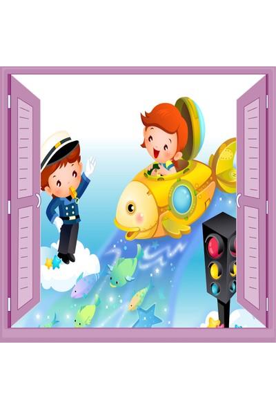 Jasmin Pencereden Trafik Polisi Çocuk Odası Duvar Kağıdı Poster