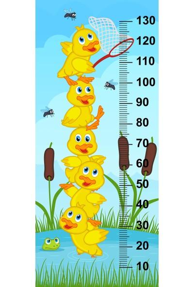 Jasmin Çocuk Odası Bebek Odası Ördekler Boy Cetveli Boy Ölçer Sticker