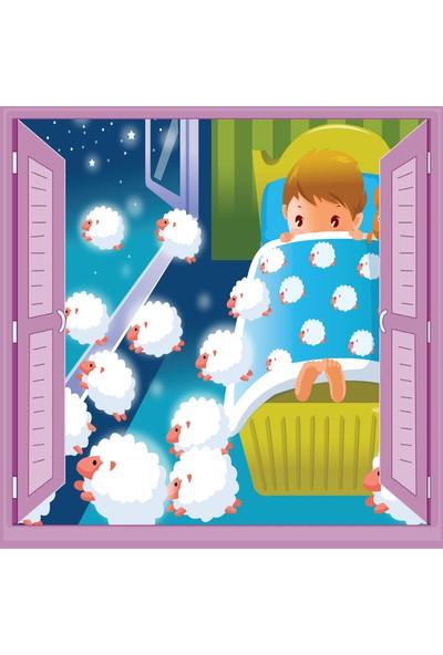 Jasmin Pencereden Uyku Çocuk Odası Duvar Kağıdı Poster