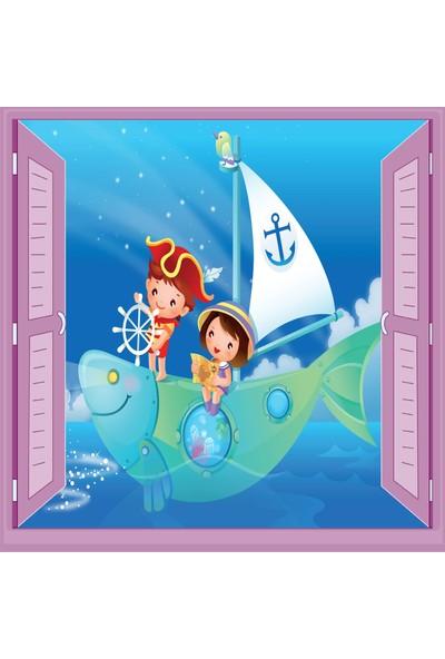 Jasmin Pencereden Kaptan Çocuk Odası Duvar Kağıdı Poster