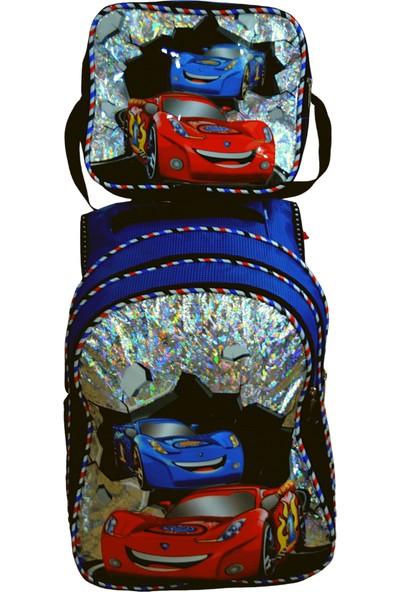 Trendcim En Güzel Simli Çizgi Karakterli Ucuz İlkokul Anaokulu Su Geçirmez Erkek Çocuk Okul Sırt Çantası Beslenme Çantalı Okul Çantası 35 x 25 x 15 cm