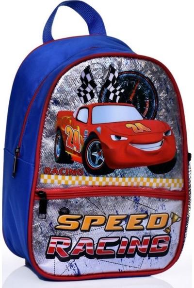 Omelo Anaokulu Çocuk Sırt Çantası Okul Çantası Yarış Arabası Çizgi Film 4 5 6 7 Yaş 5d Boyutlu Su Geçirmez