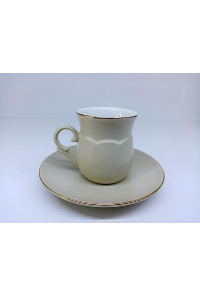 Schafer Viva Porselen 6 Kişilik Kahve Fincan Takım Bej ASO01